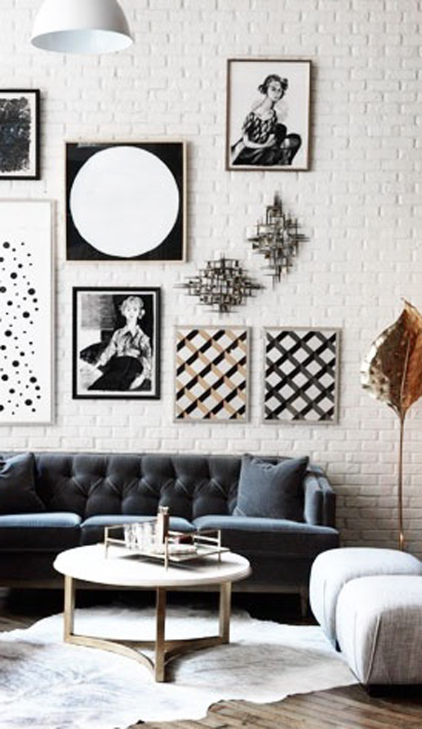 black-and-white-gallery-wall-ideas | HomeMydesign