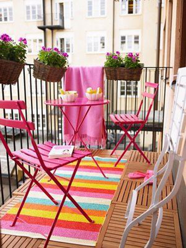 Colorful balcony gardens