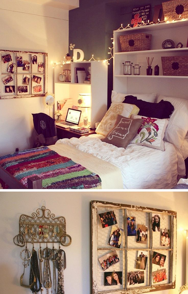 15 cool college bedroom ideas home design and interior for Hall room decoration ideas