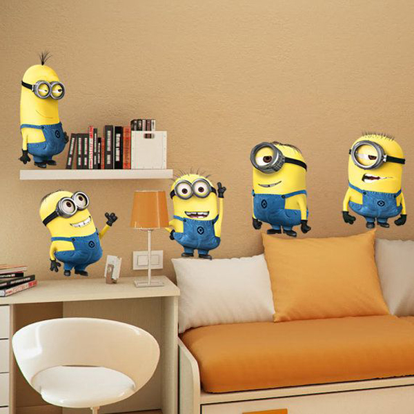 Despicable me kids bedroom wallpaper