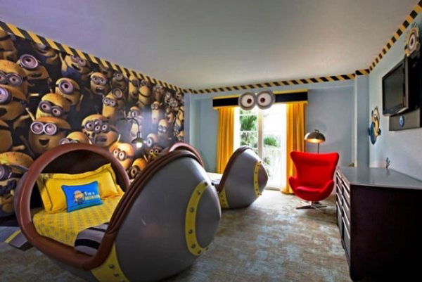despicable me minion bedrooms Kids Bedroom Ideas With Minion Theme