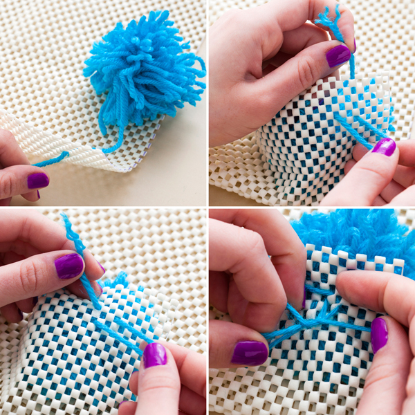 Diy Pom Ideas Rug Wall Hanging And Table