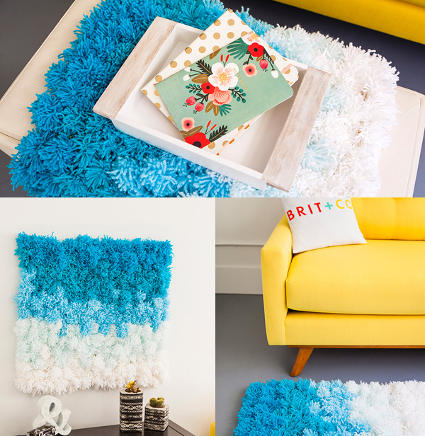 3 In 1 DIY Pom Pom Ideas: Rug, Wall Hanging and Table Cover | Home ...