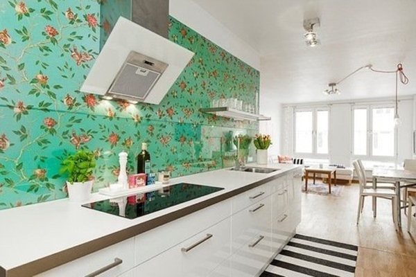 It Inspired Me To Find A Solution In The Kitchen Beauty Floral Wallpaper Adds An Unexpected Touch For Modern Or You Can More