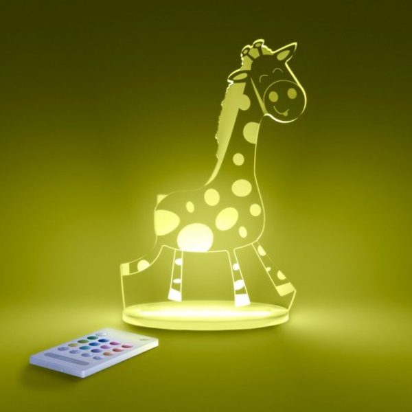 Childrens Wall Lamp Shades : giraffe-led-kids-lamps