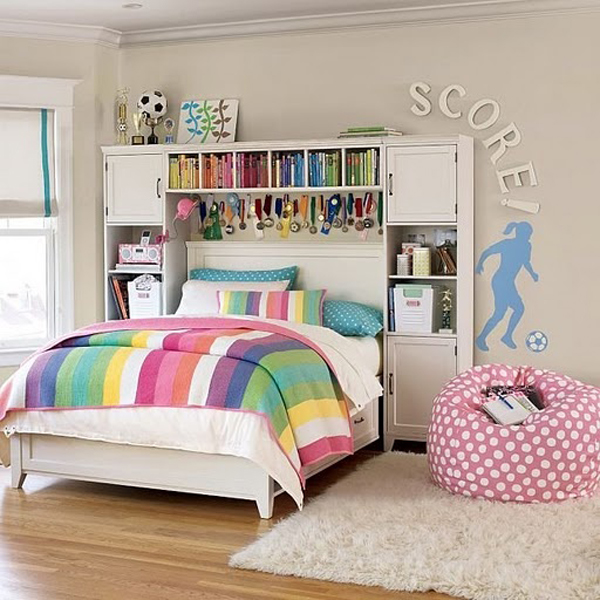 Girl soccer bedrooms Bedrooms for girls