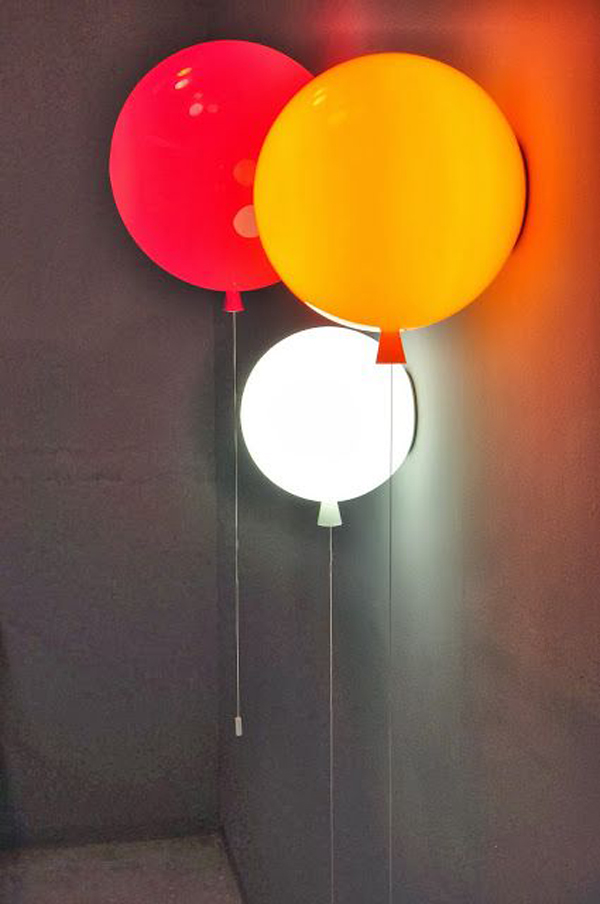Kids ballon lamp ideas for Cool lights for kids rooms