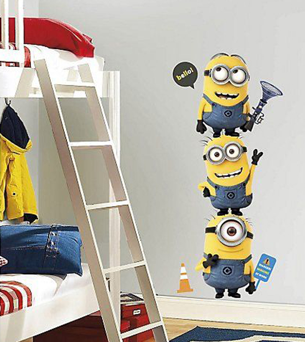 kids bedrooms with minions wallpaper Kids Bedroom Ideas With Minion Theme