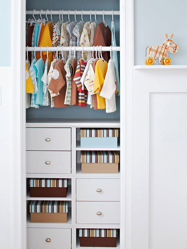 Kids closet storage design
