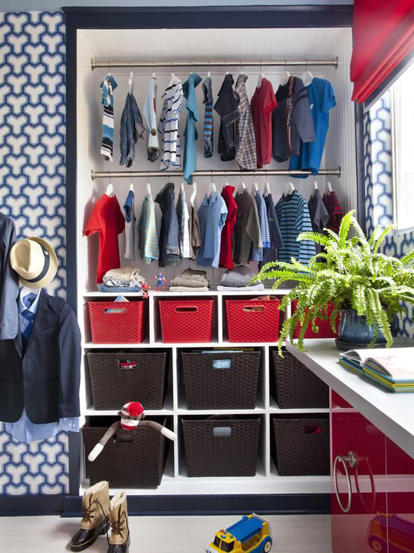 Kids Closet Storage Ideas