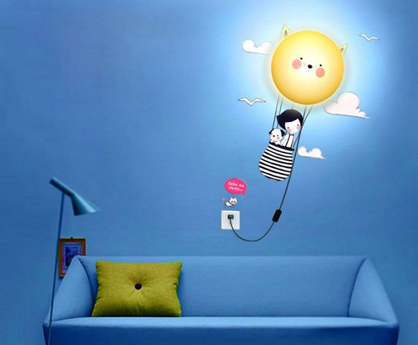 Wall Lamps For Children S Room : kids-wall-lighting