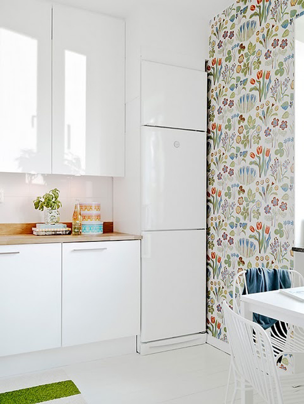 Kitchen wallpaper - Papel pintado en cocina ...