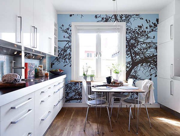 17 Inspire Wallpaper In The Kitchen