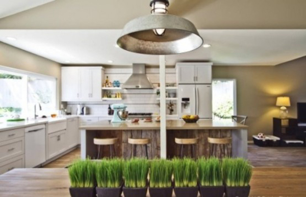 kitchen wheatgrass decor ideas
