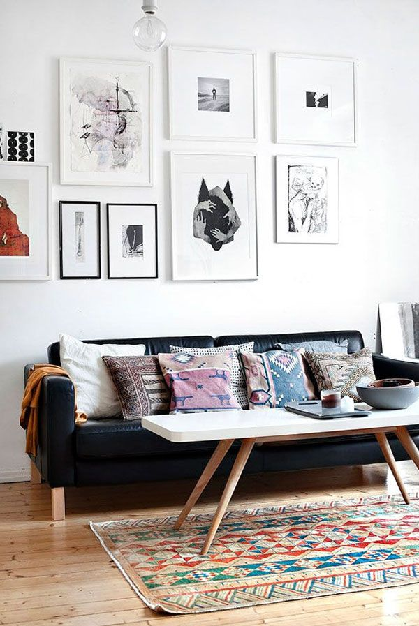 Minimalist Living Room With Wall