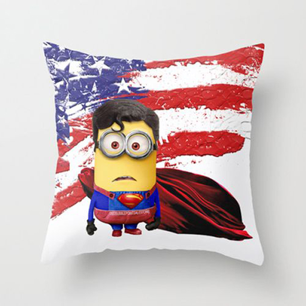 Superman Themed Bedroom: Minion-superman-pillow