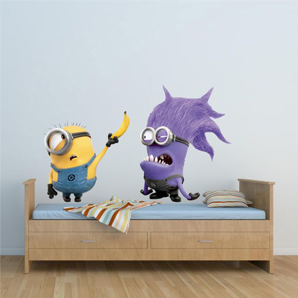 minon kids bedroom wallpapers Kids Bedroom Ideas With Minion Theme
