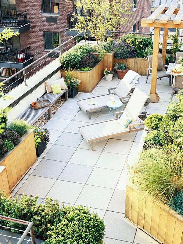 Modern Large Balconies Modern Balcony Gardens