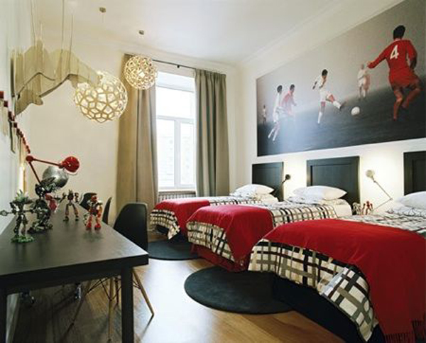 pics photos bedroom design modern soccer theme for teen boys xpx