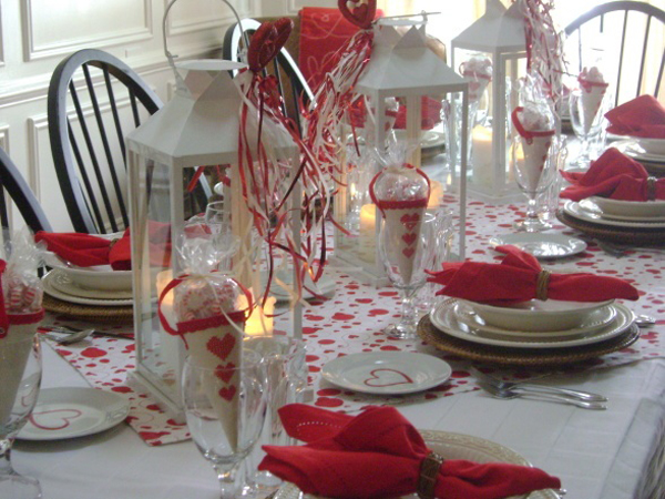 Modern valentine day table settings for Table design for valentines day
