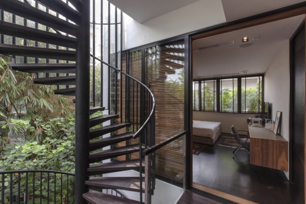 Nature House With Spiral Staircases