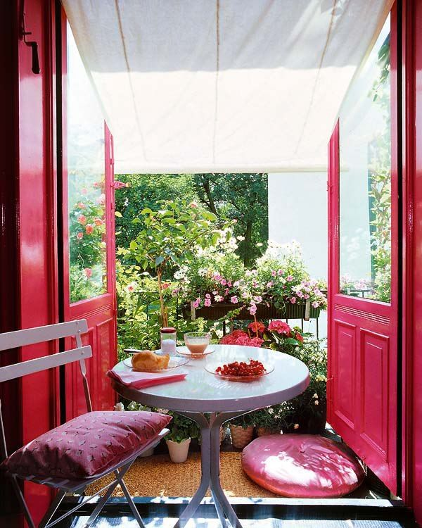 Pink Romantic Balcony