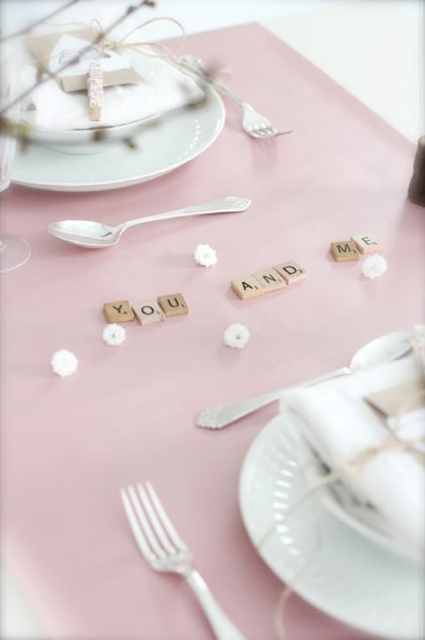 Pink Valentine Day Table Setting Design