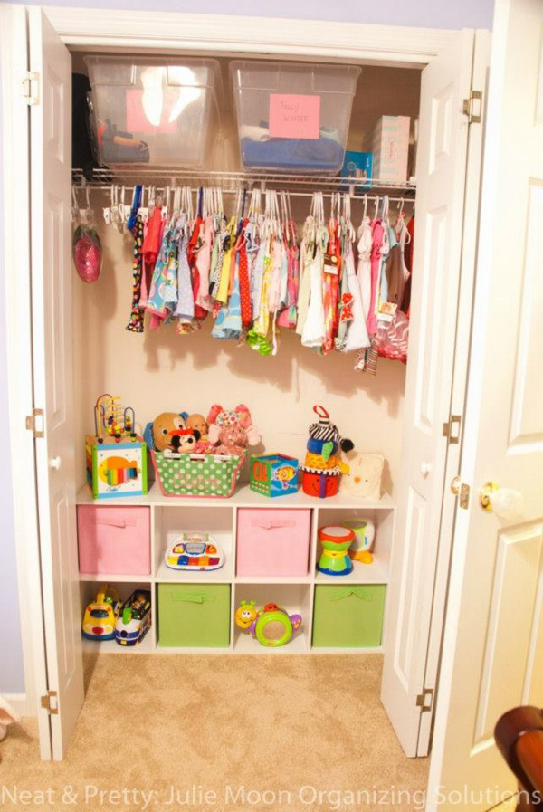 35 practical kids closet ideas home design and interior for Kids room storage ideas