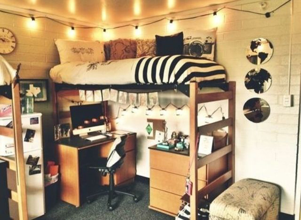 15 cool college bedroom ideas home design and interior for Cute dorm bathroom ideas
