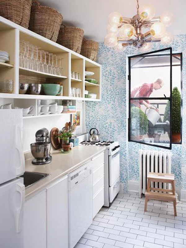 Http Homemydesign Com 2014 17 Inspire Wallpaper In The Kitchen Small Kitchen Wallpaper