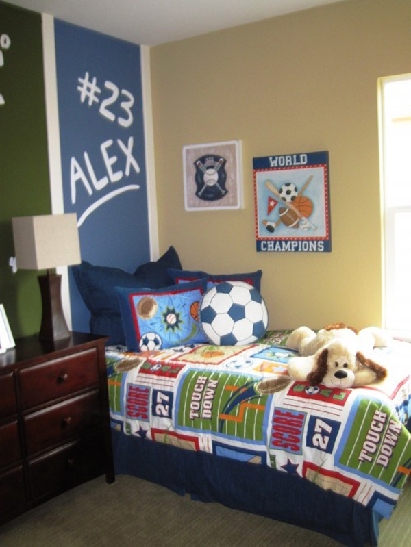 15 awesome kids soccer bedrooms home design and interior for Bedroom ideas for boys
