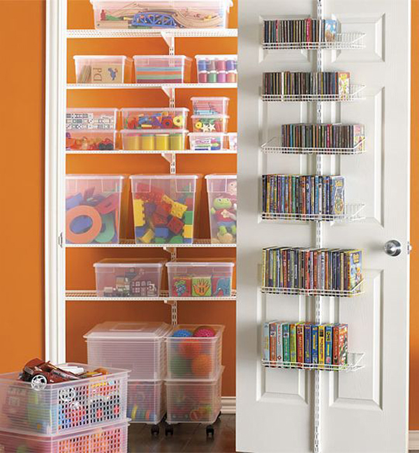 Toy closet organizer Closet toy storage ideas