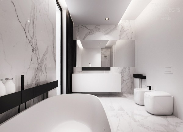 White clean bathroom decor Clean modern interior design