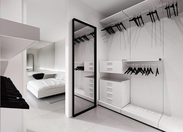 White Walk In Closet Ideas