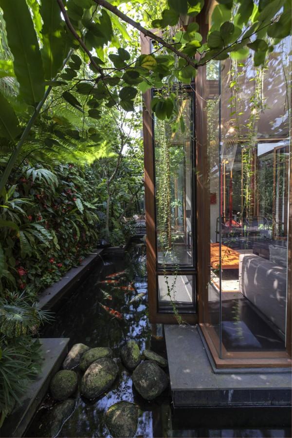 Zen Garden In Nature House