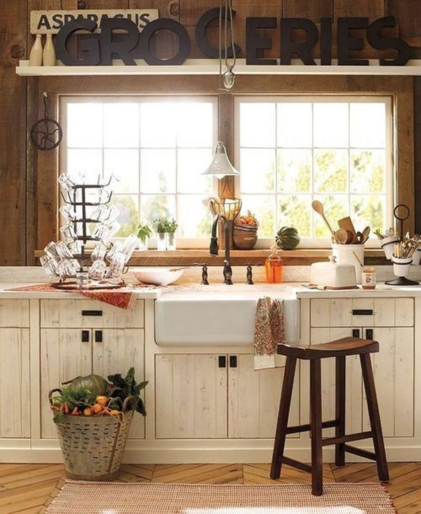 Country kitchen sink ideas for Home decor ideas for kitchen