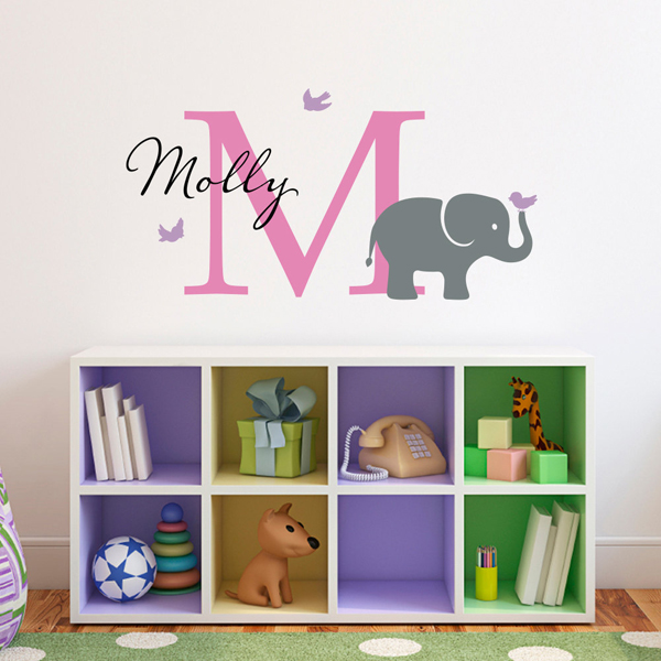 Elephant Wall Decals Set Name