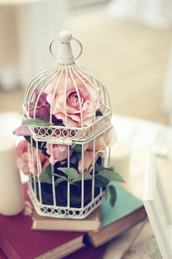 20 flower birdcage decorations home design and interior for Bird home decor