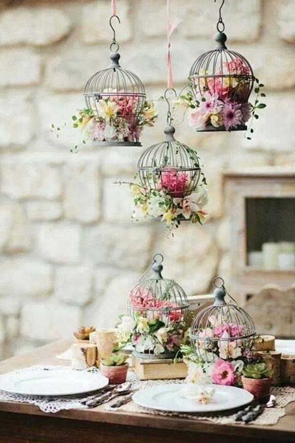 20 Flower Birdcage Decorations