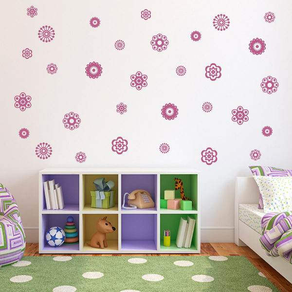 sc 1 st  Homemydesign.com & flower-wall-decals-girl-room
