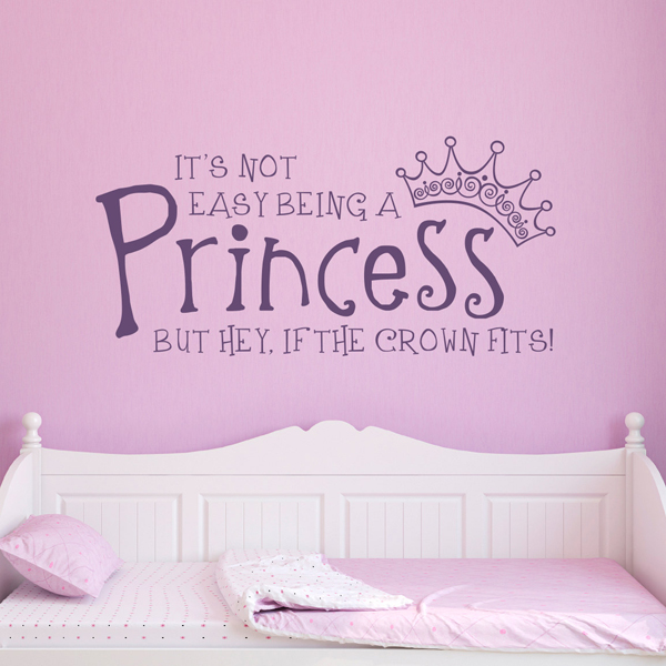 girl princess wall decals butterfly girl removable wall art sticker vinyl decal diy