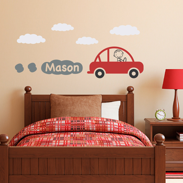 Kids Wall Decals Car Theme