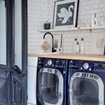 laundry-room-with-photo-wall
