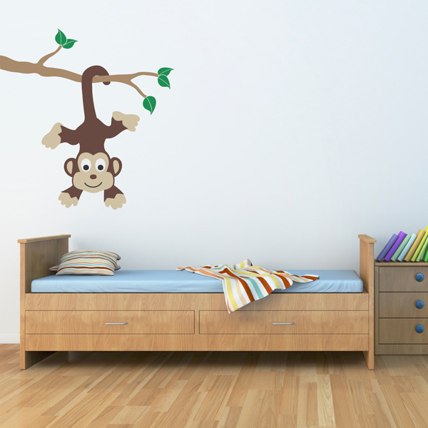 Monkey bedroom wall decals for Bedroom wall decals