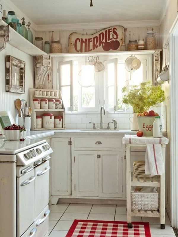 Shabby chic country kitchen ideas for Home decor ideas for kitchen