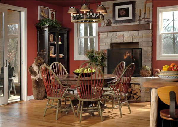 Small country kitchen for Country kitchen dining room ideas