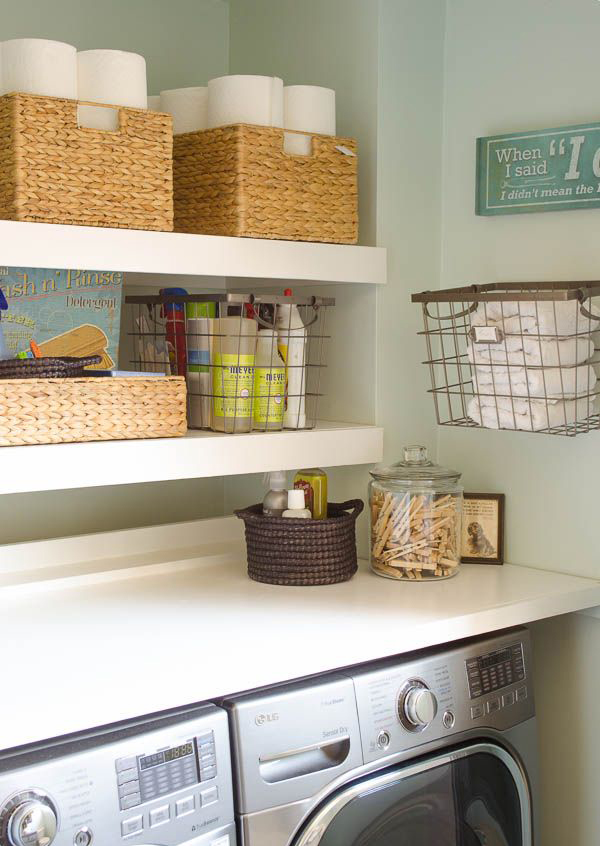 Small laundry room with torage space - Laundry rooms for small spaces decoration ...