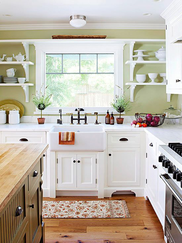 35 country kitchen design ideas home design and interior for Small white country kitchen