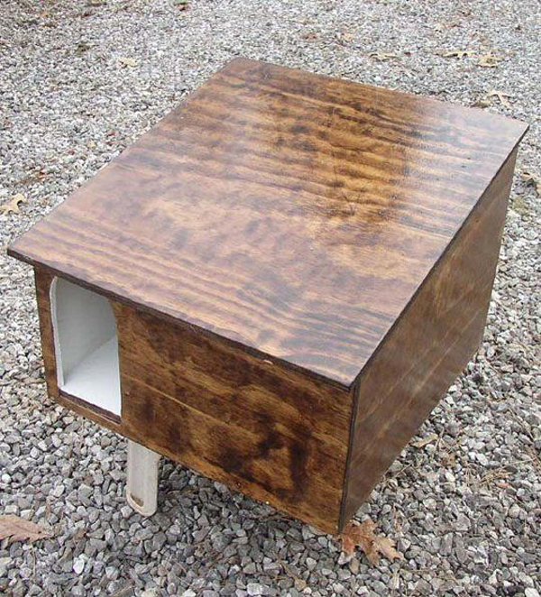 Wooden Cat Box