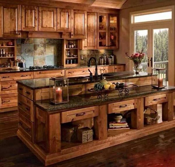 Wooden Country Kitchen Design
